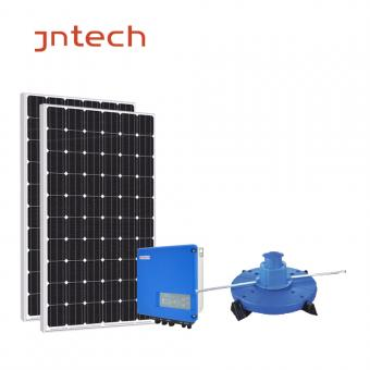 Jntech solar aeration system in water fishing pisciculture